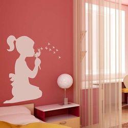szablon na ścianę dziewczynka z dmuchawcem 2274