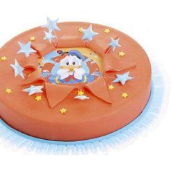 Dekoracyjny opłatek tortowy Kaczor Donald - 14,5 cm - 1 szt.