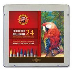 Kredki bezdrzewne PROGRESSO aquarell Koh-i-noor - 24 kolory - produkt z kategorii- Kredki akwarelowe