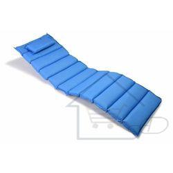 Poduszka na leżak niebieska 11 segmentów