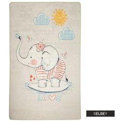 Selsey dywan do pokoju dziecięcego dinkley ślicznotka szary 100x160 cm