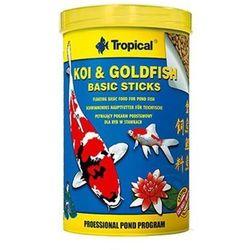 koi & goldfish basic sticks - pokarm w pałeczkach dla ryb stawowych 21l/1,5kg - 21l/1,5kg marki Tropical