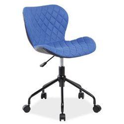 Krzesło obrotowe RINO Signal niebieski/czarny, Signal