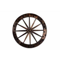Koło drewniane - stylowa rustykalna dekoracja 90 cm