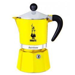 Bialetti rainbow kawiarka 3 filiżanki 3 tz żółta