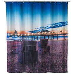 Zasłona prysznicowa, tekstylna USEDOM z oświetleniem LED, 180 x 200 cm, WENKO