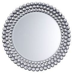 Lustro ścienne ø 70 cm srebrne STENAY, kolor szary