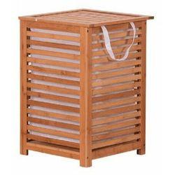 Lakierowany kosz bambusowy na pranie basket marki 4-home