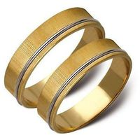 Obrączki białe i żołte złoto 5mm płaskie ST4