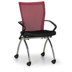Krzesło konferencyjne Dynamic, czerwone