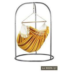 Zestaw hamakowy: leżak hamakowy currambera ze stojakiem romano, pomarańczowy cul21roa16 marki La siesta
