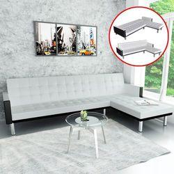 vidaXL Narożna sofa czarno/biała - sprawdź w VidaXL