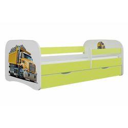 Łóżko dla dziecka, barierka, babydreams, ciężarówka, zielone marki Kocotkids