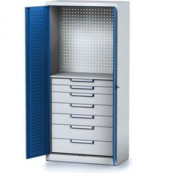 Szafa warsztatowa mechanic, 1950 x 920 x 500 mm, 1 półka, 7 szuflad, niebieskie drzwi marki Alfa 3
