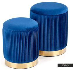 zestaw dwóch puf wemerra niebieskie marki Selsey
