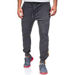 Antracytowe spodnie dresowe baggy męskie Denley 0493 - ANTRACYTOWY, kolor szary