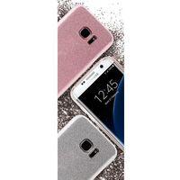 Etui PURO Glitter Shine Cover do Samsung Galaxy S7 Edge Srebrny, kolor szary