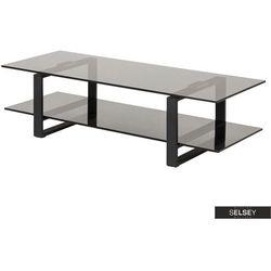 Selsey stolik pod telewizor banjole 120 cm dymione szkło (5903025964010)