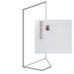 Regały sklepowe - perforowane, narożne, 1900x1000x500 mm