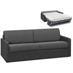 4-osobowa kanapa z ekspresowym mechanizmem rozkładania z tkaniny calife - kolor: szary - wymiary miejsca do spania: 160 cm - materac 14 cm marki Vente-unique