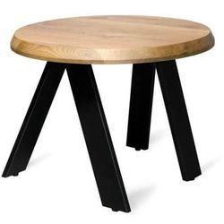 Okrągły stolik kawowy walk art+ marki Loftdecora