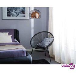 krzesło rattanowe czarne acapulco marki Beliani