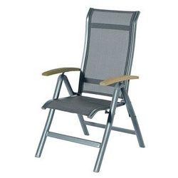 Krzesło ogrodowe w kolorze xerix/antracit | alice | podłokietniki z drewna tekowego marki Hartman