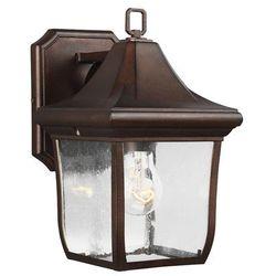 Ogrodowa lampa ścienna oakmont fe/oakmont2/s elstead elewacyjna oprawa tarasowy kinkiet outdoor ip44 brązowa patyna marki Feiss