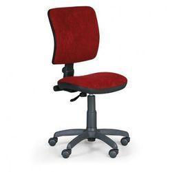 Biurowe krzesło milano ii bez podłokietników - czerwony marki B2b partner