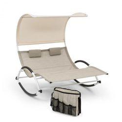 Blumfeldt brentwood zestaw składający się z leżaka bujanego + torby falisty kształt siateczka comfortmesh