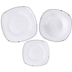 Orion zestaw obiadowy porcelanowy, kwadratowy LINKA 18 szt.