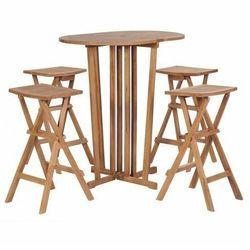 Elior Zestaw drewnianych mebli ogrodowych simmons 2x - brązowy