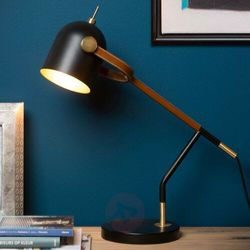 Lucide waylon lampa biurkowa czarny, 1-punktowy - ponadczasowy - obszar wewnętrzny - waylon - czas dostawy: od 2-3 tygodni (5411212051097)