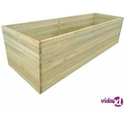 vidaXL Donica ogrodowa, impregnowane drewno sosnowe, 200 x 100 77 cm