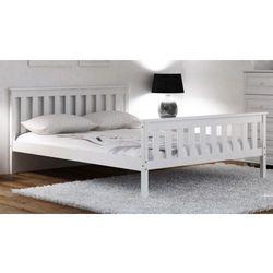 Łóżko alion 90x200 białe szare z materacem bonellowym marki Meble magnat