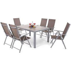 Home & garden Meble ogrodowe aluminiowe capri 145 cm silver / light grey ibiza basic silver / taupe 6+1