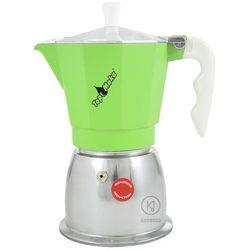 Kawiarka na indukcję Top Moka Top 6 filiżanek - Srebrno zielona