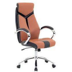 Krzesło biurowe brązowe - fotel biurowy obrotowy - meble biurowe - formula 1 marki Beliani