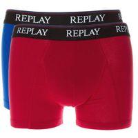bokserki 2-pak niebieski czerwony l marki Replay