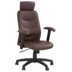 Fotel gabinetowy stilo ciemno brązowy - gwarancja bezpiecznych zakupów - wysyłka 24h marki Halmar