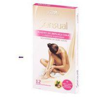 sensual (w) plastry do depilacji ciała argan 12szt + oliwka 10ml marki Joanna