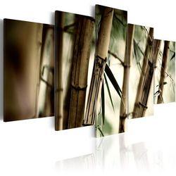 Obraz - Azjatycki las bambusowy bogata chata