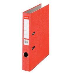 segregator a4 rainbow z mechanizmem dźwigniowym 50mm, czerwony marki Esselte