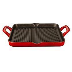 - patelnia grillowa żeliwna 29x26cm czerwona marki La cuisine