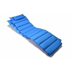Komplet 2 x poduszka Garthen na leżak niebieska