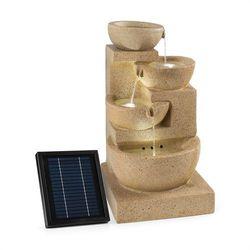 Blumfeldt Korinth Ogrodowa fontanna ozdobna 3W panel solarny LED imitacja piasko (4260486158275)