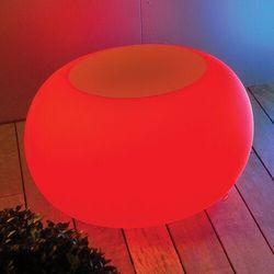 Stół bubble, światło led rgb i pomarańczowy filc marki Moree