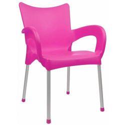 Mega plast krzesło dolce mp463, różowe