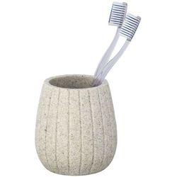 Wenko Kubek na szczoteczkę i pastę do zębów, kolor beżowy, pojemnik na szczoteczki, przybory kosmetyczne, marka