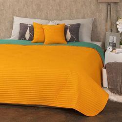 4Home Narzuta na łóżko Doubleface pomarańczowy/zielony, 220 x 240 cm, 2 szt. 40 x 40 cm (8596175014000)